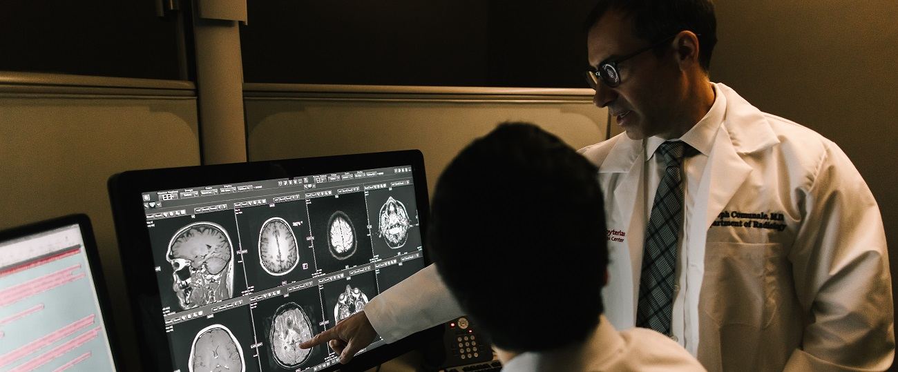 Weill Cornell Medicine Physicians reading radiology scan