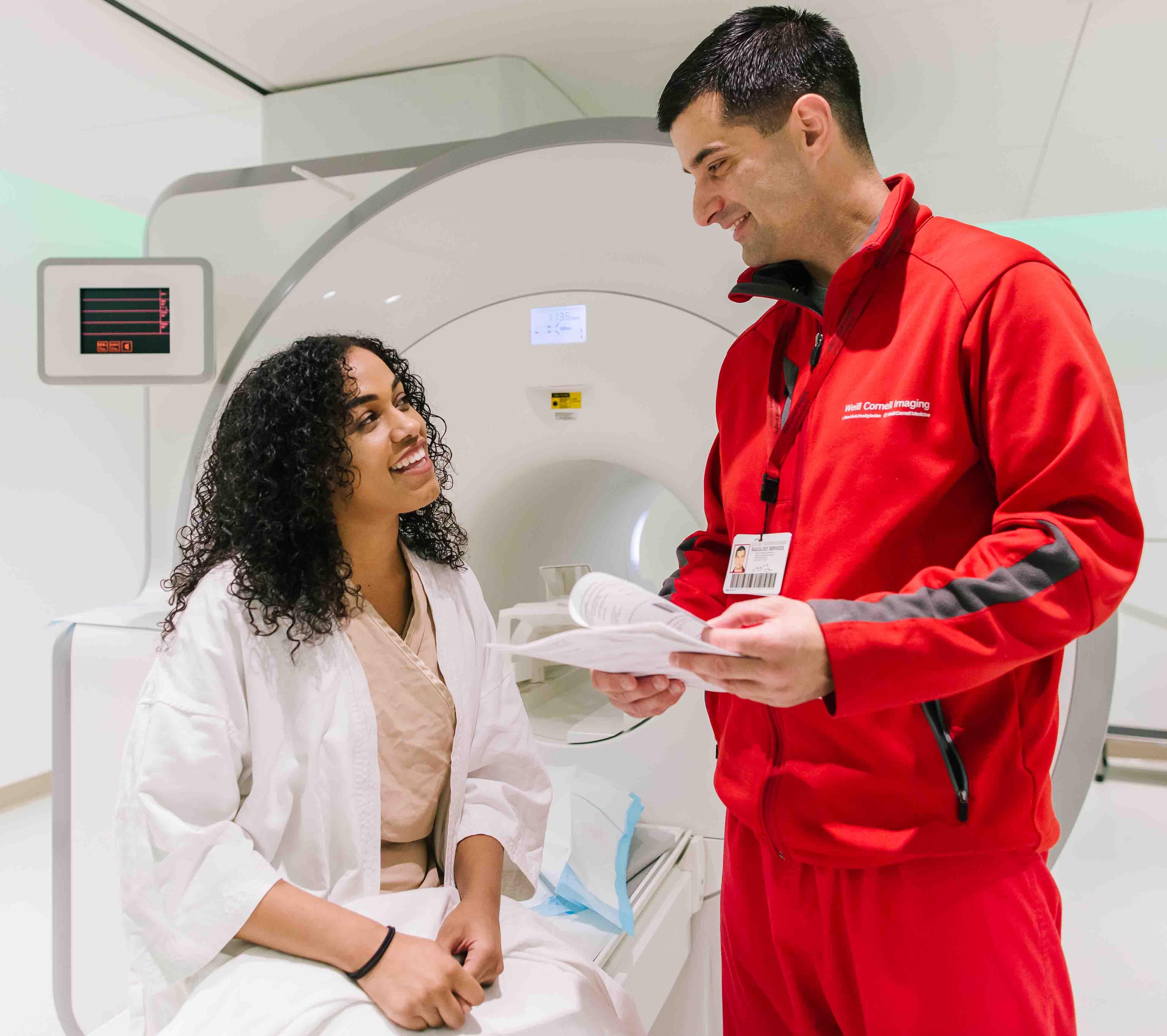 Weill Cornell Medicine MRI Technologist and Patient